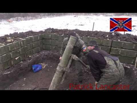 152мм минометы ополчения ведут огонь по позициям укропов