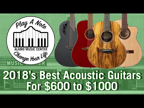 2018 Best Acoustic Guitars Above $600 And Under $1000 - Buyer's Guide And Comparison