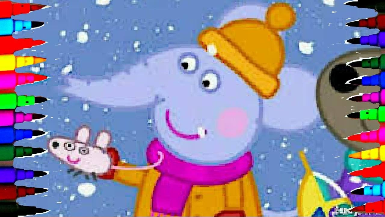 Peppa Pig Meet Emily Elephant Best Learning Coloring