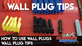 How to use wall plugs | wall plug tips