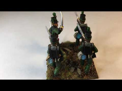 British Napoleonic Line Infantry 28mm 95th rifles, Napoleonic wars, 28mm Front rank