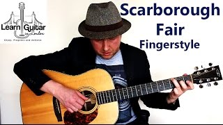 Scarborough Fair - Fingerstyle Guitar Tutorial - Part 1 - How To Play