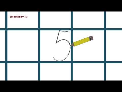 Как научить писать цифру 5