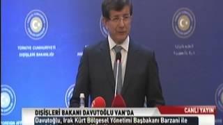 Dışişleri Bakanı Sayın Davutoğlu'nun IKBY Başbakanı Neçirvan Barzani'yle Ortak Basın Toplantısı