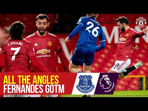 All the Angles | Bruno Fernandes vs Everton | Goal Of The Month | Manchester United | Premier League