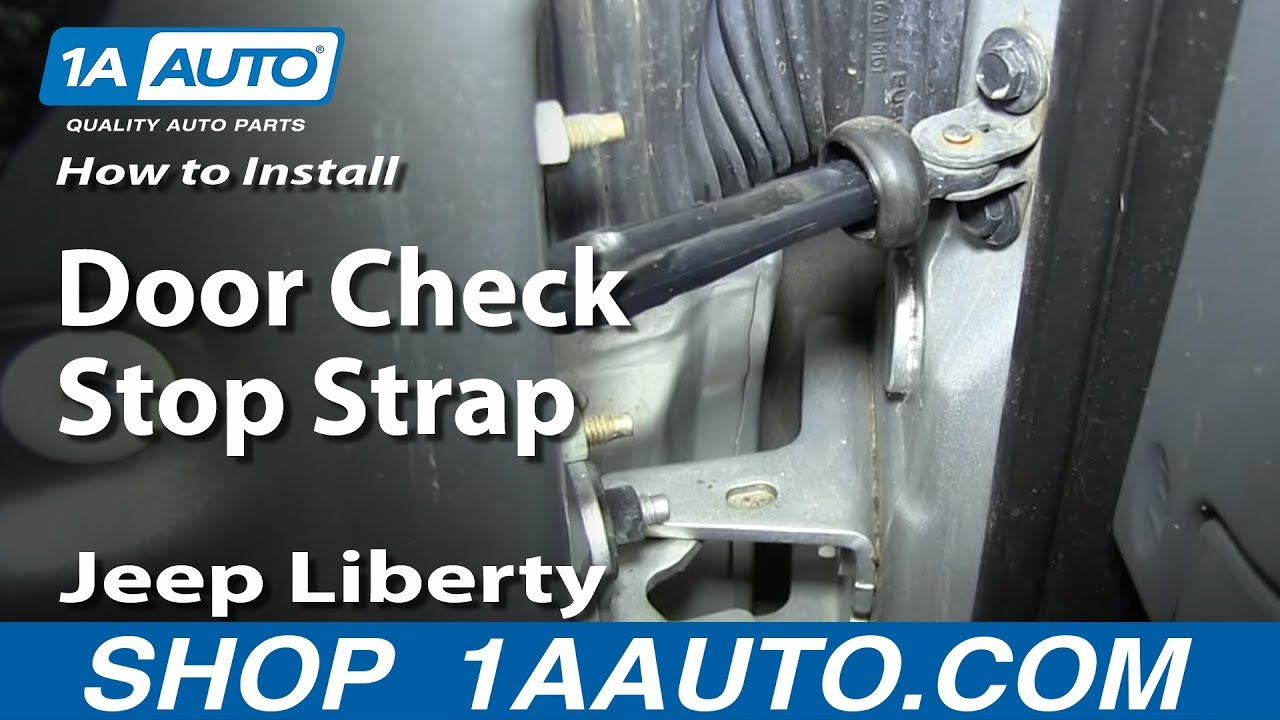 hight resolution of how to install replace door check stop strap 2002 06 jeep liberty
