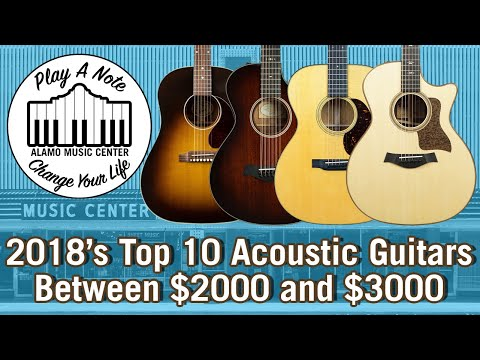2018s Top 10 Acoustic Guitars Between $2000 and $3000  Martin, Taylor, Gibson