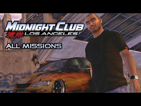 Midnight Club: Los Angeles - All Missions Walkthrough (1080p)