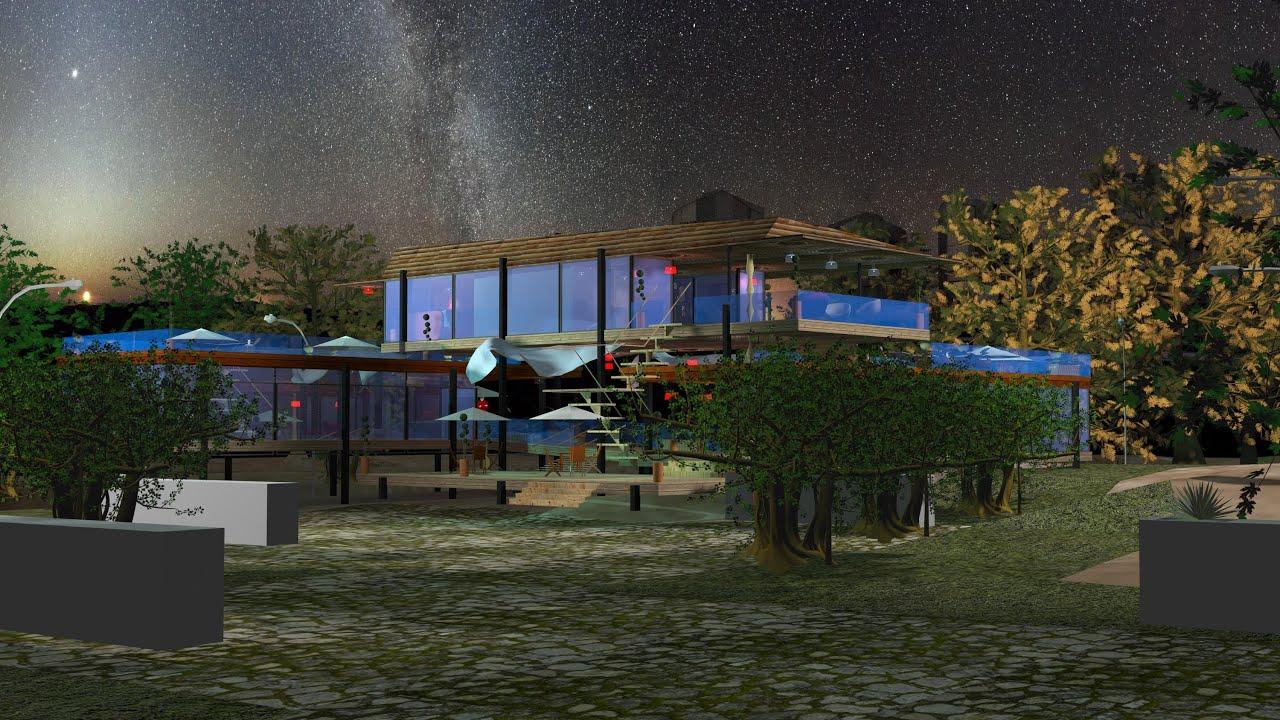 Casa Farnsworth Modelada en 3D max  YouTube