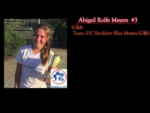 Abigail Meyers. #3 DC Stoddert Metros Blue U-16. Sidwell Friends School. College Recruitment Video