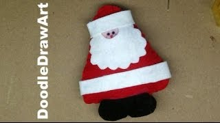 Craft: Stuffed Toy / Christmas Tree Ornament - Make Santa Claus!