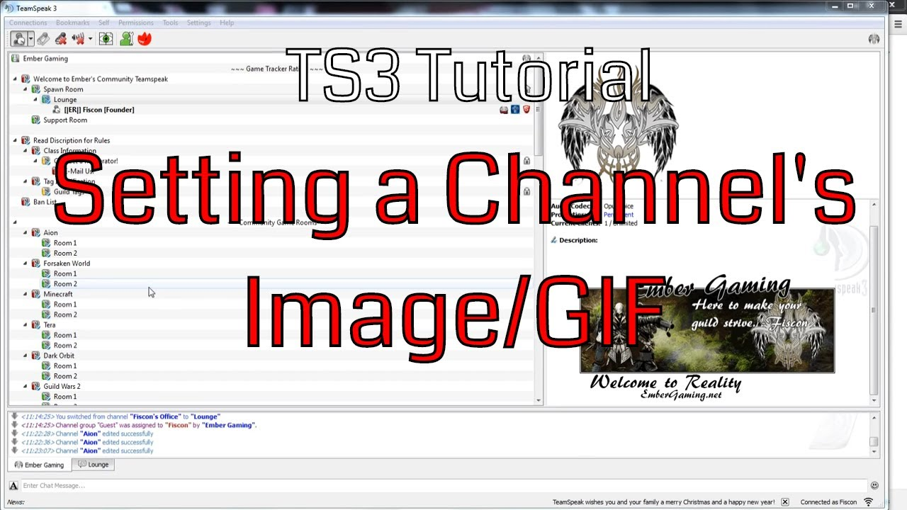 teamspeak 3 how to put picture in channel