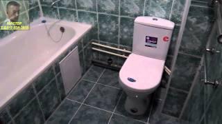 Натяжные потолки видео. Монтаж потолков в ванной.