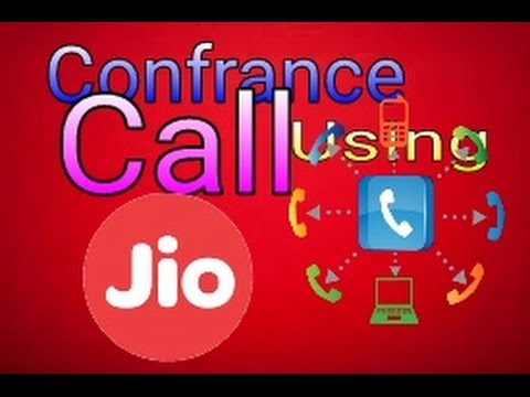 How to make conference call using jio Sim. (Hindi)