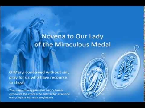 Novena to Our Lady of The Miraculous Medal -- Testimony