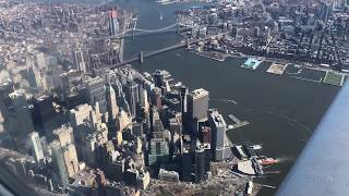 Fantastic CLOSE UP Views! - Flying Over Manhattan New York City- Landing LGA Laguardia - DL CRJ-900