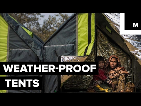 Reversible, weatherproof tent for the homeless