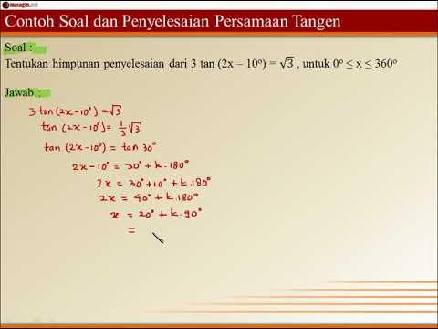 Contoh Soal Dan Penyelesaian Persamaan Tangen 2 Youtube