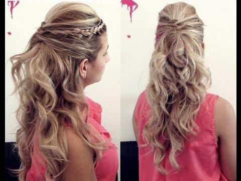 Penteado simples e decorado
