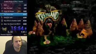Donkey Kong Country 2 Speedrun (Any%) - 46:58