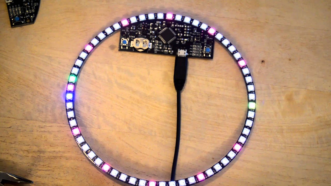 Outrageously cool WS2812-NeoPixel-based clock | Embedded