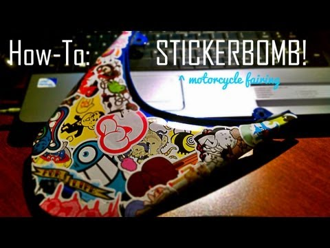 How To: Stickerbomb (motorcycle)
