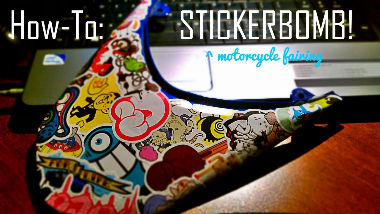 How To Stickerbomb Motorcycle YouTube - Custom vinyl decals covering for motorcycles