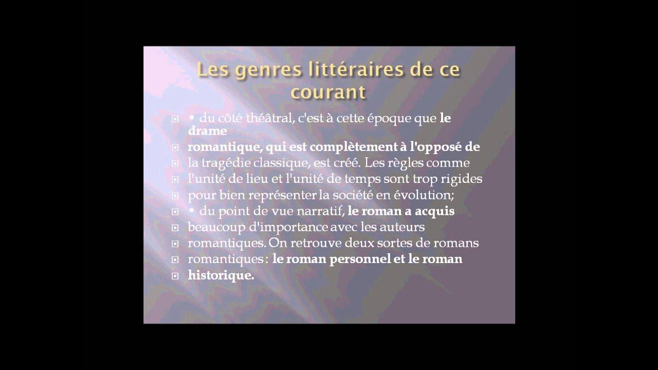 Littérature Romantique exposé sur le romantisme dans la littérature ™ - youtube