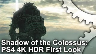 [4K HDR] Shadow of the Colossus PS4 Pro Gameplay First Look!
