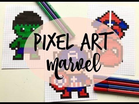 Pixel Art Spécial Marvel