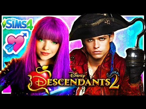 Disney Descendants 2: MAL AND HARRY HOOK HAVE A BABY?? | Sims 4 Random Genetics Challenge - CAS