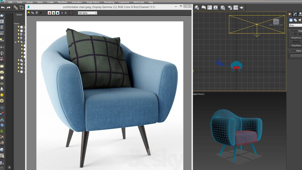 Top 4 Comfortable Chairs For Living Room: 3dsmax Model Comfortable Chair