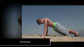100 push-ups at the level of -100 meters above sea level at the Dead Sea.