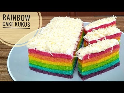 Resep rainbow cake kukus - YouTube