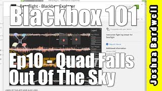 CLEANFLIGHT BETAFLIGHT RACEFLIGHT KISS BLACKBOX 101   Ep10 - Why Did The Quad Fall Out Of The Air?