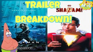 Shazam And Aquaman Trailer Breakdown!