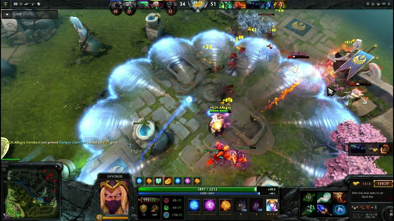 dota 2 moment today invoker rampage wipe them all youtube