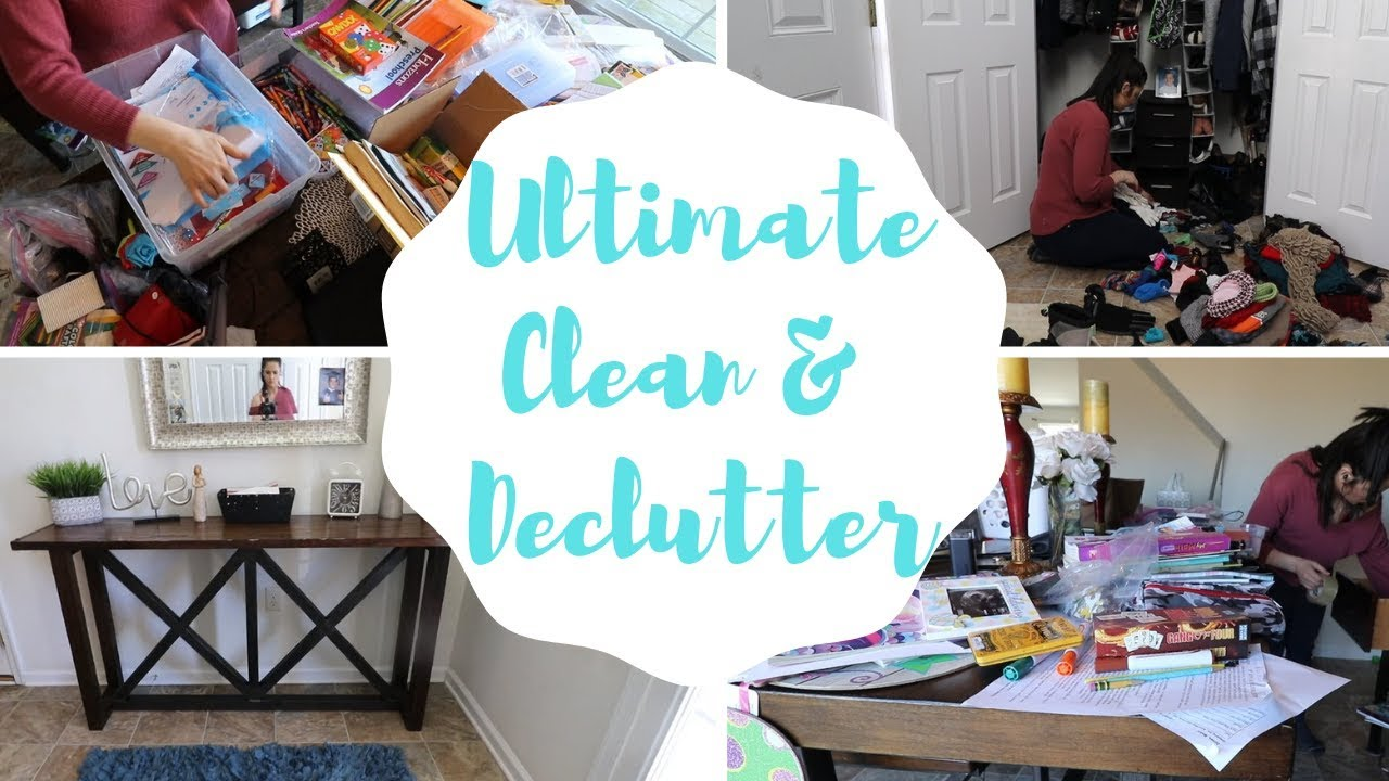 Ultimate Clean With Me All Day Clean Declutter 2019 Messy House Clean With Me Cook With Me