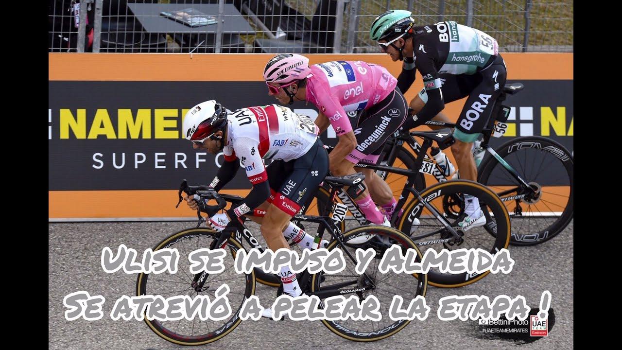 Ulisi se impuso y Almeida se atrevió a pelear la etapa 13 del Giro.