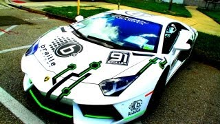 Lamborghini Aventador Super Trofeo Race Car Lithium-Ion Battery Edition RARE Braille