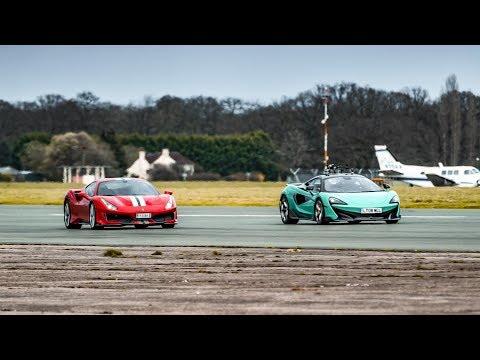 Chris Harris vs the Ferrari 488 Pista & McLaren 600LT | Top Gear