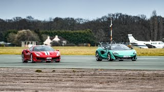 Chris Harris vs the Ferrari 488 Pista & McLaren 600LT | Top Gear