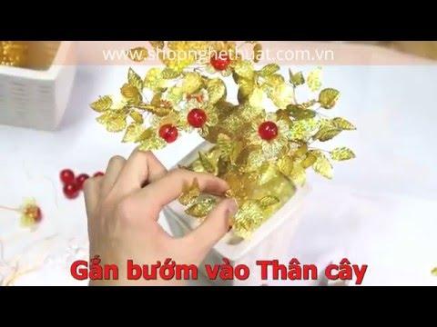 Hướng dẫn cách làm Cành vàng lá ngọc - Cây kim tiền lộc