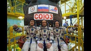 Основной и дублирующий экипажи МКС-54/55 провели «примерку» ТПК «Союз МС-07»
