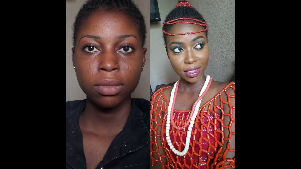 NIGERIAN BRIDE BEFORE AND AFTER MAKEUP TRANSFORMATION