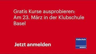 Klubschule Migros Basel - 1x Ausprobieren - März 2019