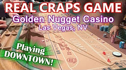Live Craps Game #20 - DOWNTOWN CRAPS ACTION - Golden Nugget, Las Vegas, NV - InsidetheCasino