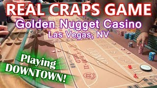 Live Craps Game #20 - DOWNTOWN CRAPS ACTION - Golden Nugget, Las Vegas, NV - InsidetheCasino