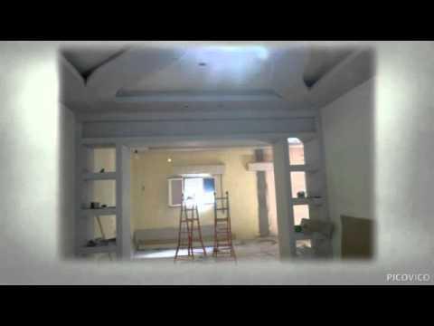 Placo pl tre maroc youtube for Separation salon en platre