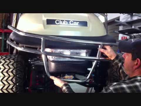 Jake's Front Bumper Install Club Car Precedent